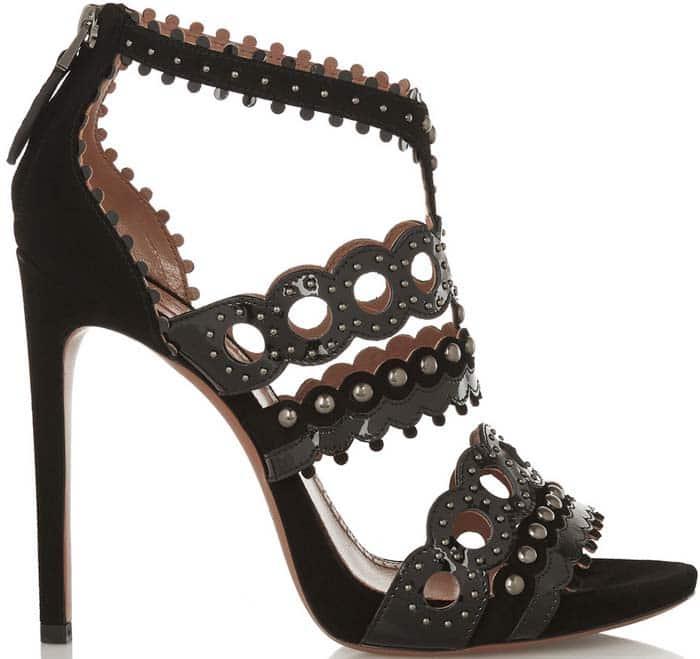 Alaia Laser Cut Patent Sandals