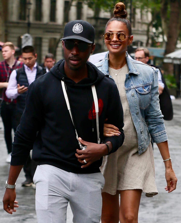 Alesha Dixon and her husband Azuka Ononye in London