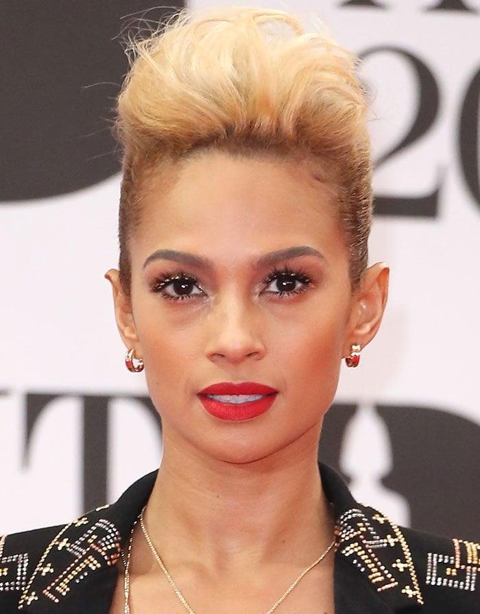 Alesha-Dixon-quiff-hair-red-lipstick