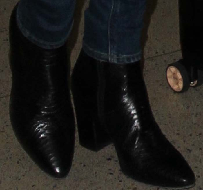 Alessandra Ambrosio LAX Croc Boots 3