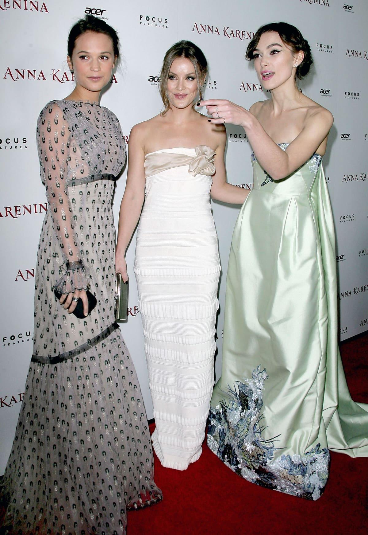 "Alicia Vikander, Guro Schia, and Keira Knightley attend the premiere of Focus Features' ""Anna Karenina"""