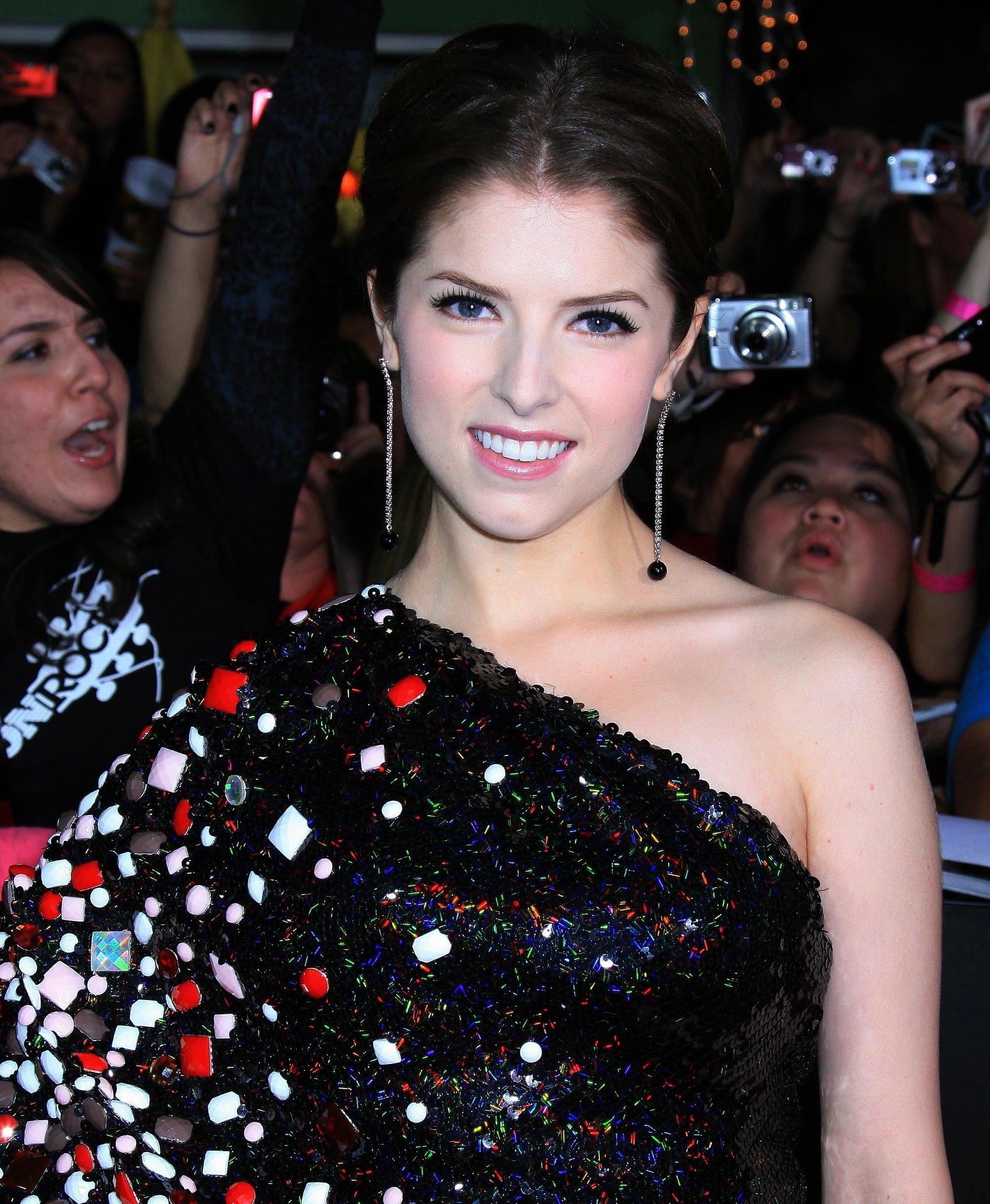 """Actress Anna Kendrick smiling at the premiere of Summit Entertainment's """"The Twilight Saga: New Moon"""""""