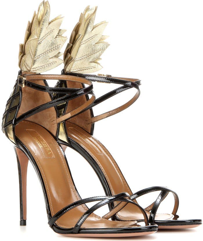 Aquazzura Pina Colada 105 patent leather sandal