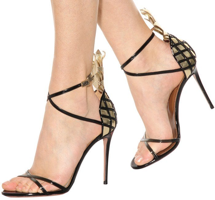 Aquazzura Pina Colada 105 patent leather sandals