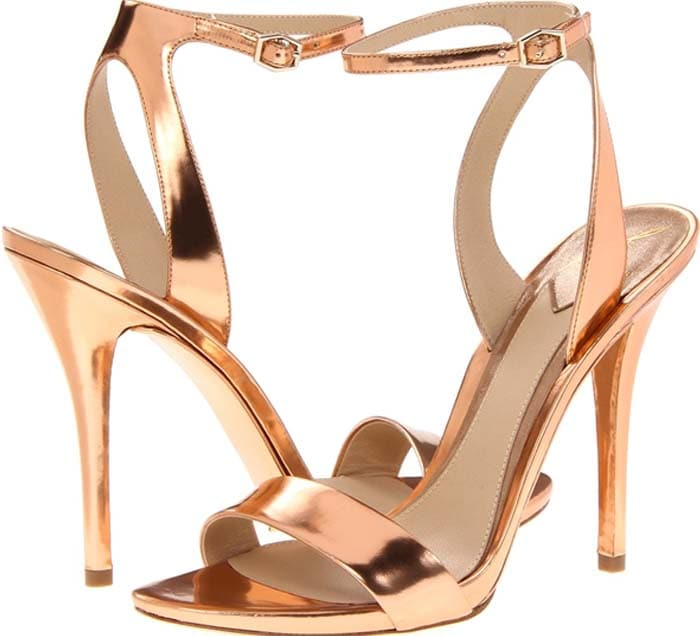 B Brian Atwood 'Catania' Mirrored Ankle Strap Sandals