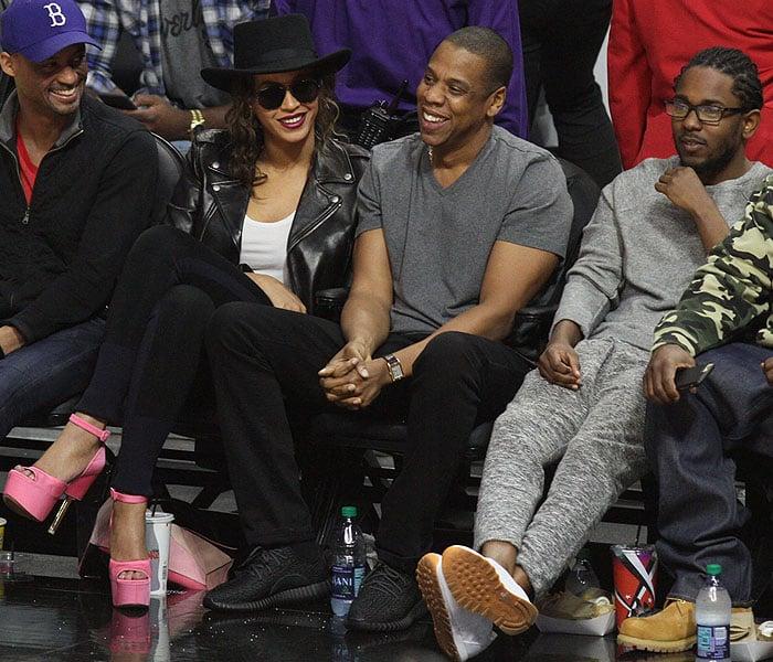 Beyonce Jay-Z Kendrick Lamar LA Clippers game 1