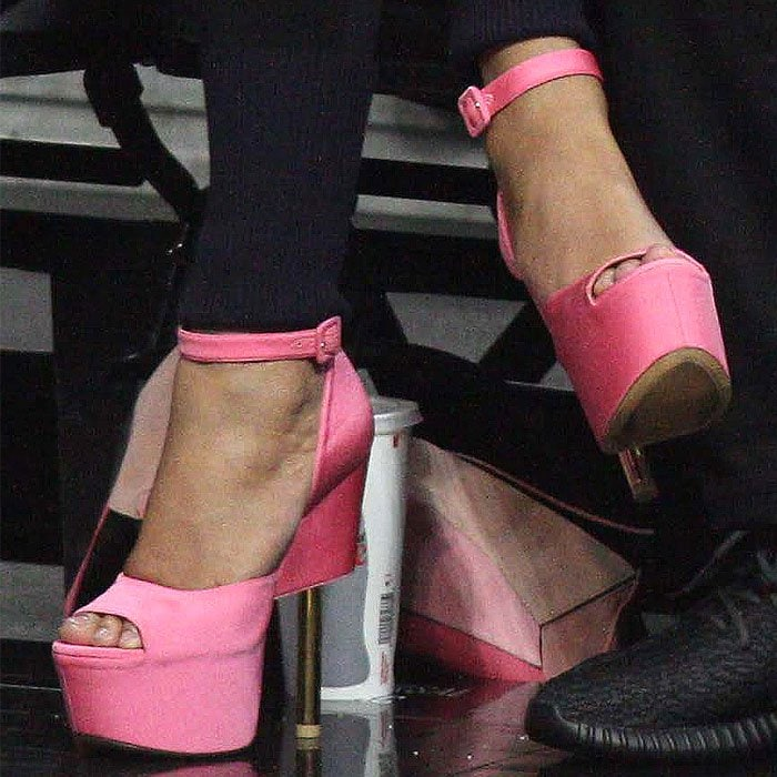 Beyonce pink Givenchy platforms 1