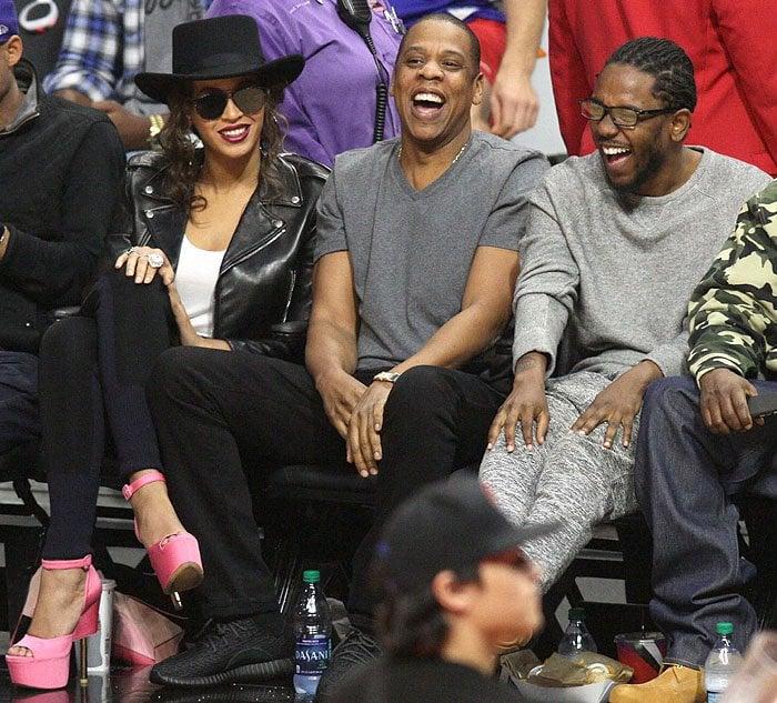 Beyonce pink platforms Jay-Z Kendrick Lamar