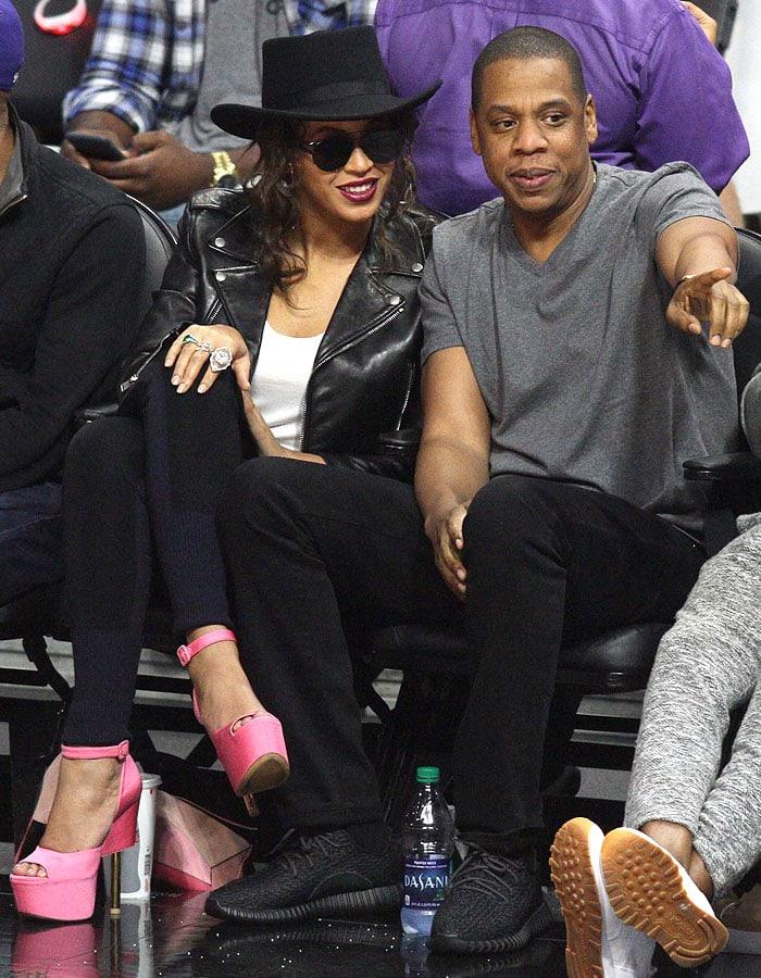 Beyonce pink platforms Jay-Z