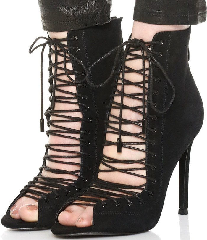 Black KENDALL KYLIE 'Ginny' Lace-Up Sandal