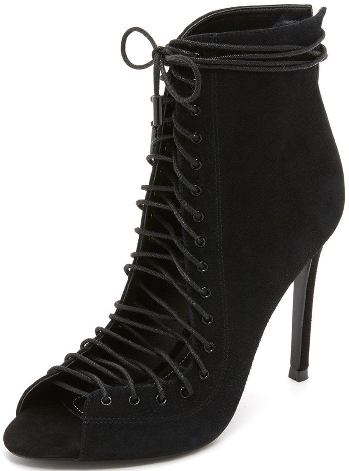 Black KENDALL KYLIE 'Ginny' Lace-Up Sandals