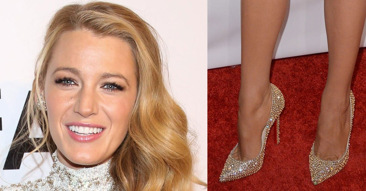 658ee8500ab ... shop blake lively struts in christian louboutin pigalle strass pumps  1b036 4e0a3