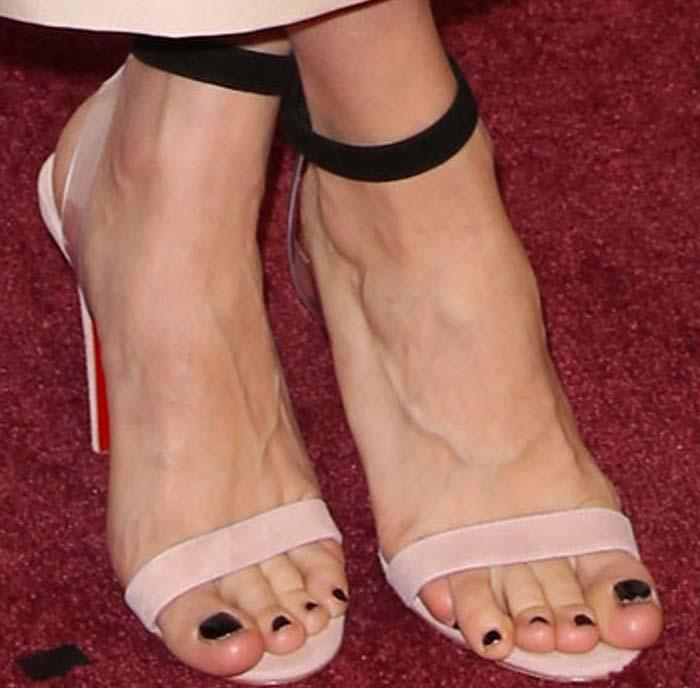 Brie Larson Rolls Eyes In Christian Louboutin X Jonathan