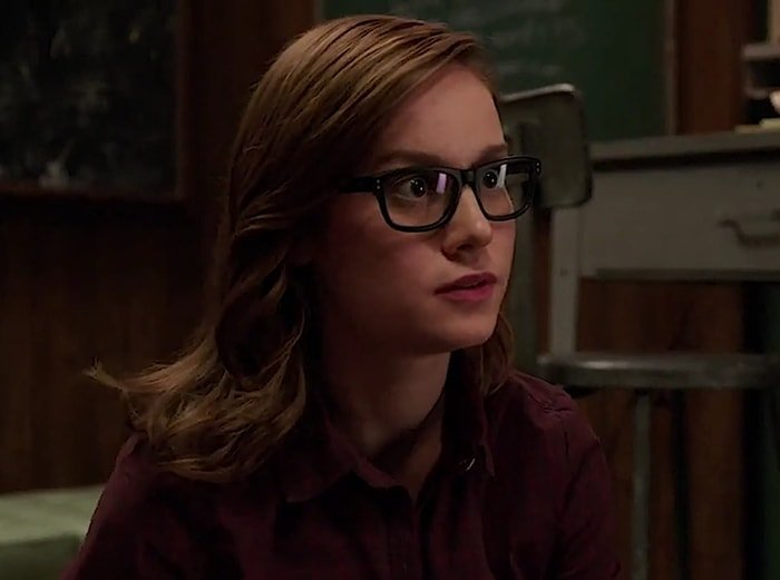 Brie Larson wore glasses and a wig for her role as Rachel on Community