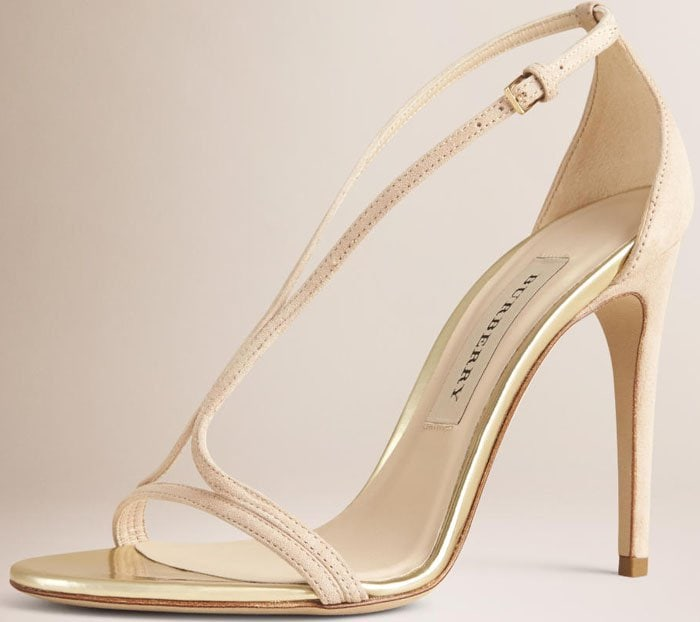 Burberry Slim Strap Suede Sandals