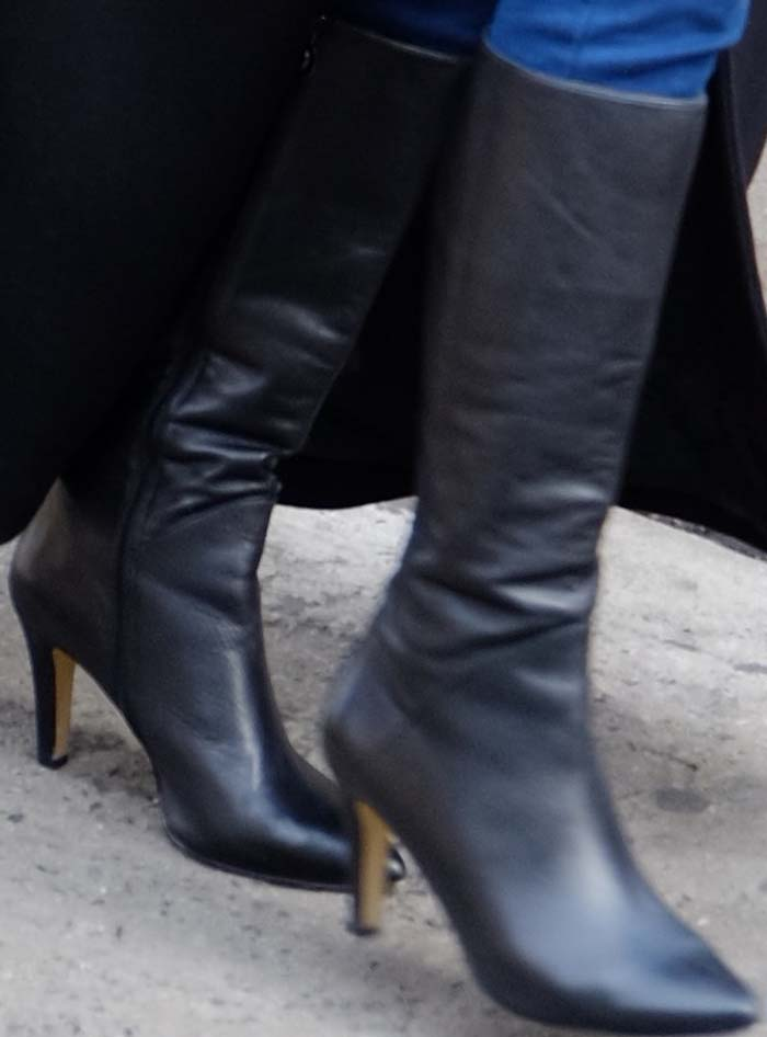Caitlyn Jenner's black knee-high boots