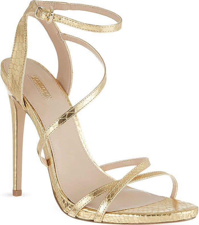 Carvela-Georgia-Metallic-Faux-Snake-Sandals