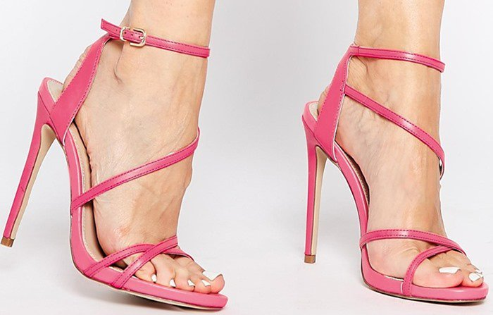 Carvela Georgia Pink Strappy Barely There Sandals
