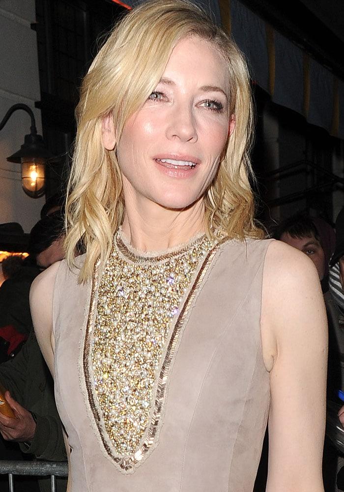 Cate Blanchett PreBAFTA Mayfair Jimmy Choo 1