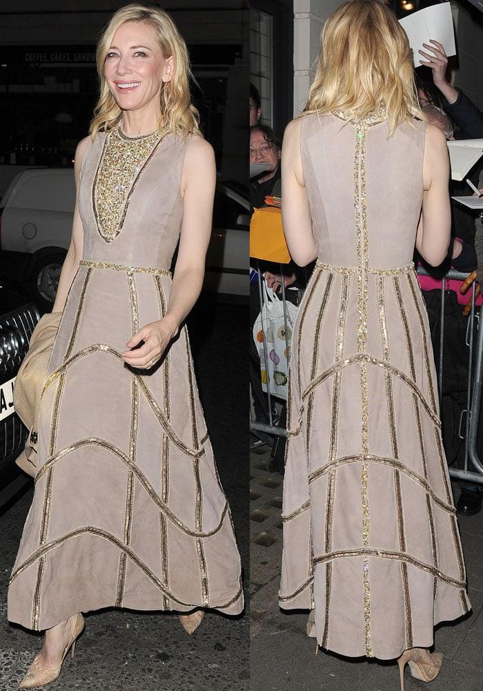 Cate Blanchett PreBAFTA Mayfair Jimmy Choo 3