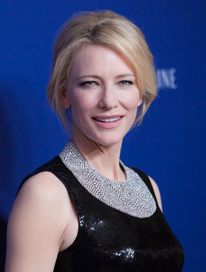 Cate Blanchett Versace gown christian louboutin designers guild