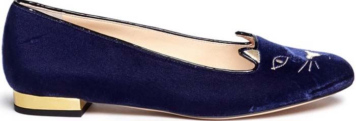 Charlotte Olympia Kitty Flats Blue