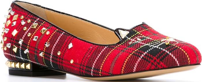 Charlotte Olympia Plaid 'Punk Kitty' Loafer in Tartan