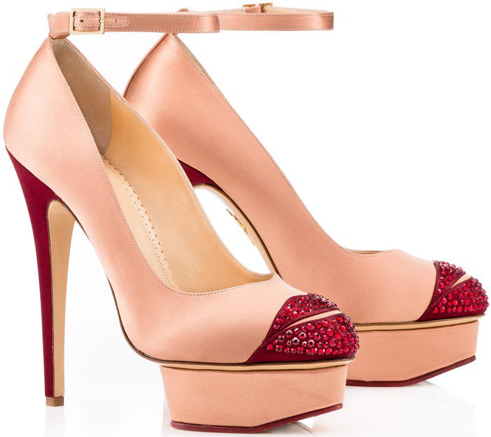 Charlotte Olympia Pink Kiss Me Dolores