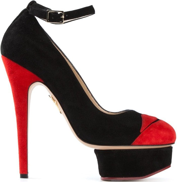 Charlotte Olympia Red 'kiss Me Dolores' Pumps