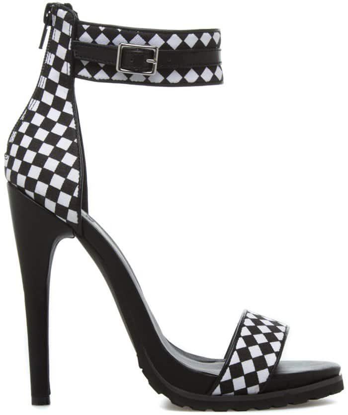 Checkered Ankle-Strap Sandal