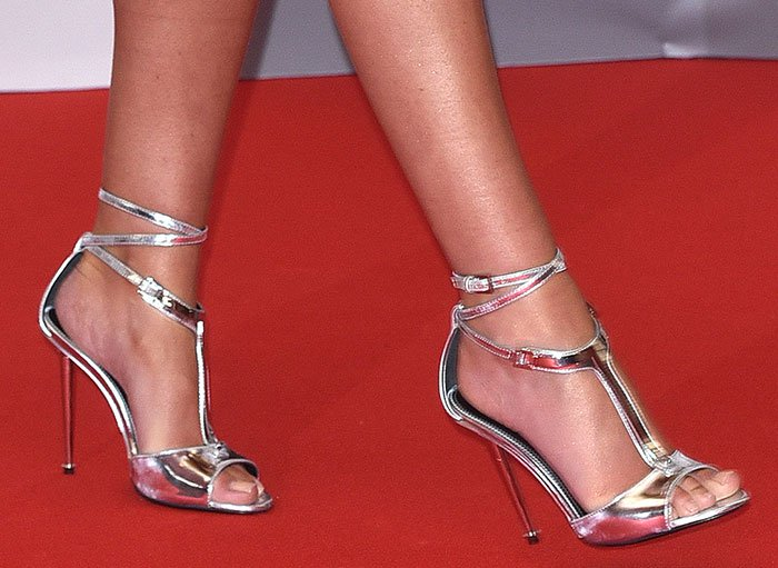 Cheryl-Cole-Tom-Ford-Metallic-Sandals