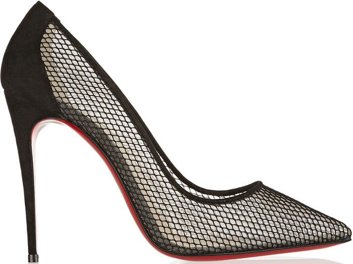 Christian-Louboutin-Follies-Resille-suede-trimmed-mesh-pumps