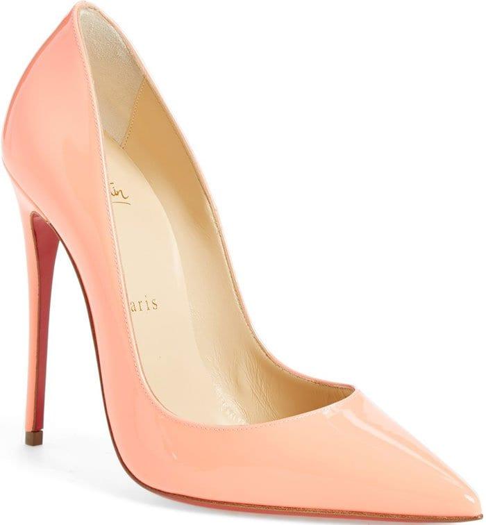 Christian Louboutin So Kate flamingo patent