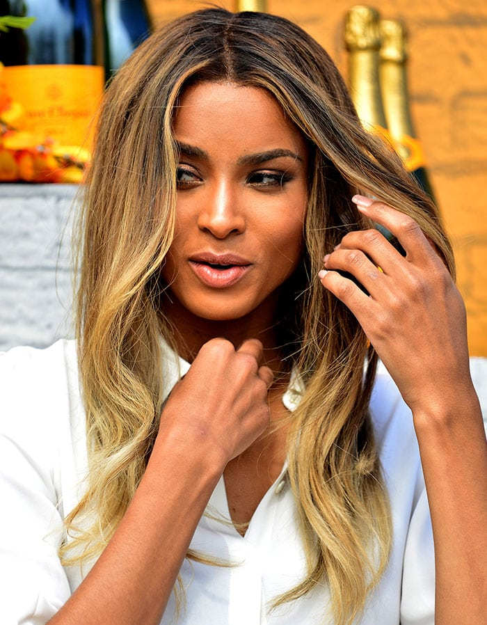 Ciara wears her hair down at Veuve Clicquot's second annual Clicquot Carnival