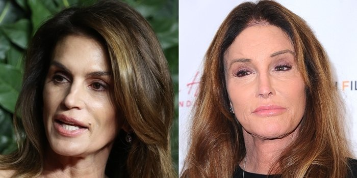 Cindy Crawford is not related to Caitlyn Marie Jenner (born William Bruce Jenner)