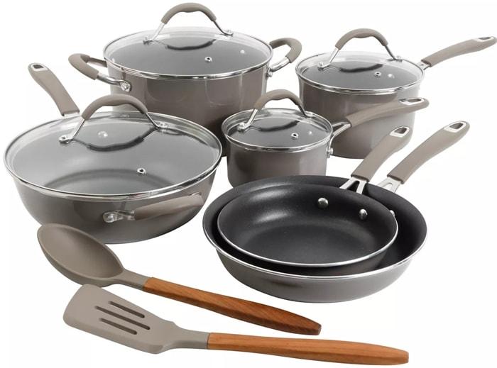 The Cravings by Chrissy Teigen 12-piece nonstick aluminum cookware set