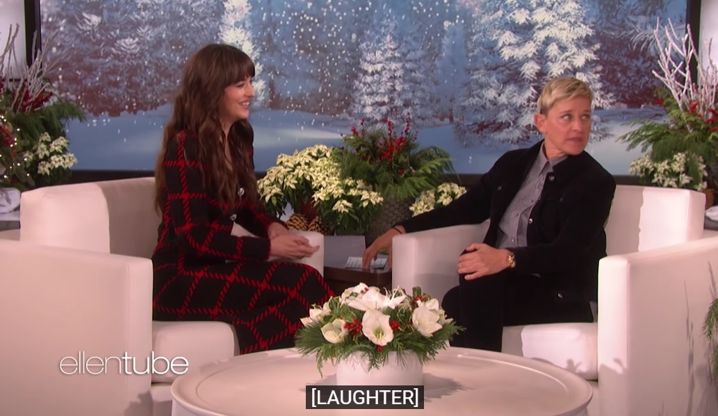 Dakota Johnson corrected Ellen DeGeneres when she accused the actress of not inviting her to a birthday party