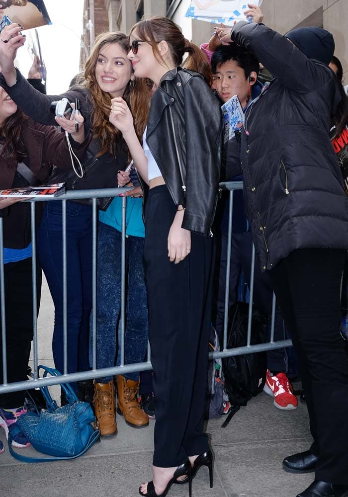Dakota Johnson Huffington Saint Laurent 4