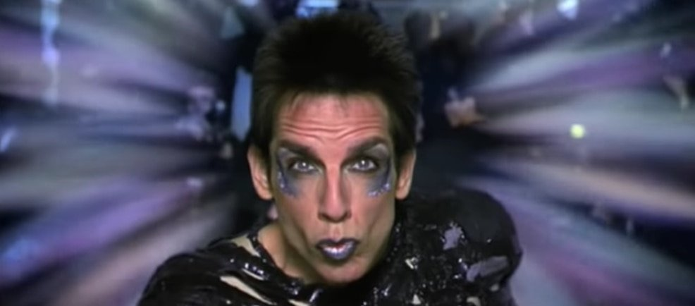Derek Zoolander's one and only trademark look is known as Le Tigre, Blue Steel, and Magnum