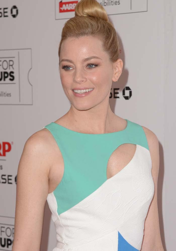 Elizabeth Banks wears her hair up for the fifth annual Movies For Grownups Awards