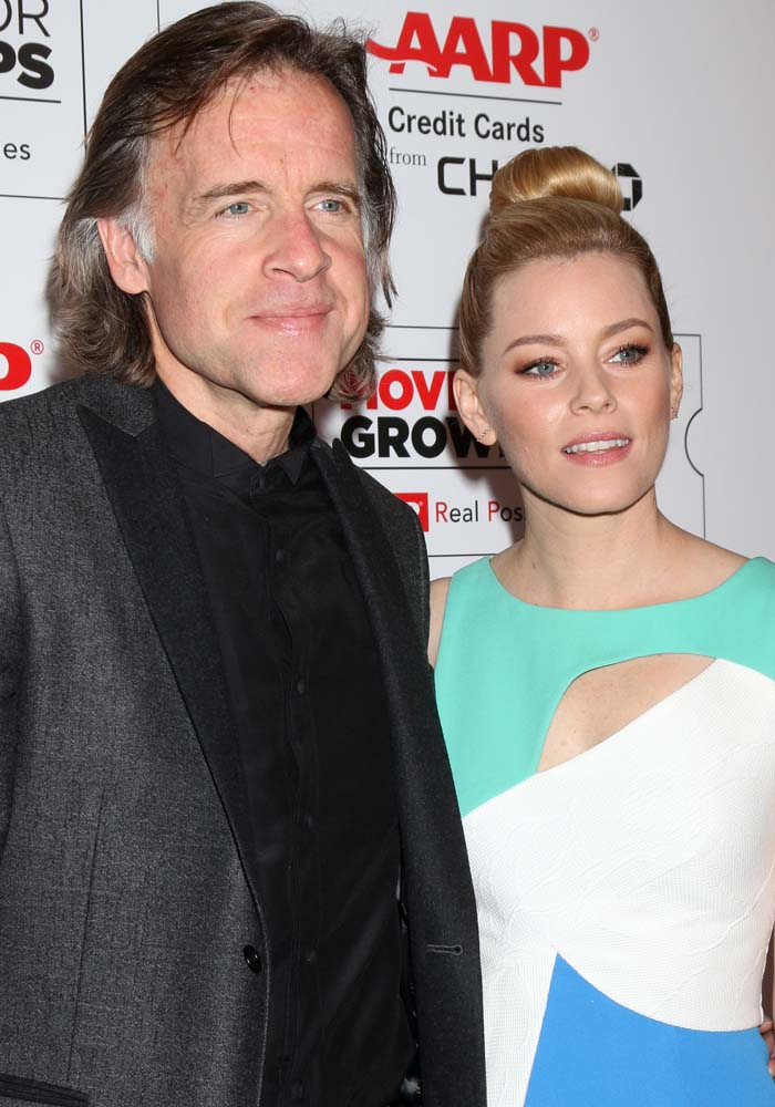 """""""Love and Mercy"""" director Bill Pohland and Elizabeth Banks pose for photos together"""