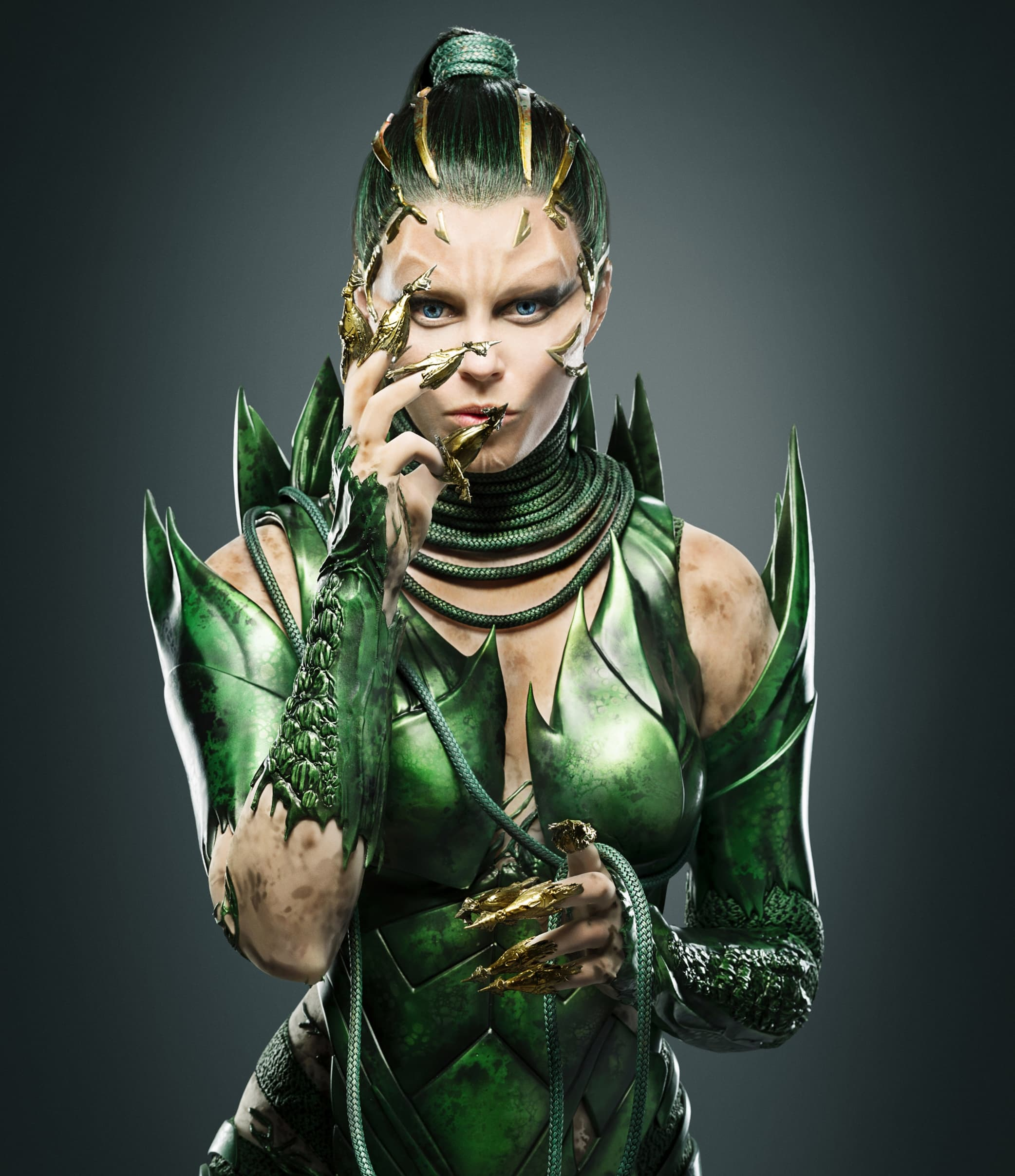 Elizabeth Banks plays space alien Rita Repulsa in the 2017 Power Rangers reboot film