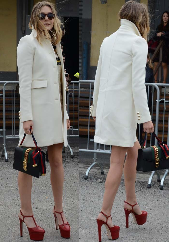 Elizabeth Olsen MFW Gucci 2