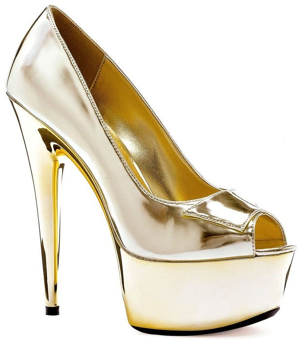 Ellie Shine-609 Peep-Toe Platform Pumps