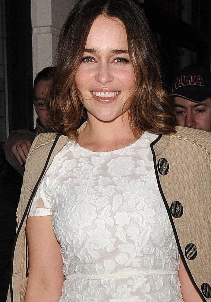 Emilia Clarke PreBAFTA Mayfair Burberry 1
