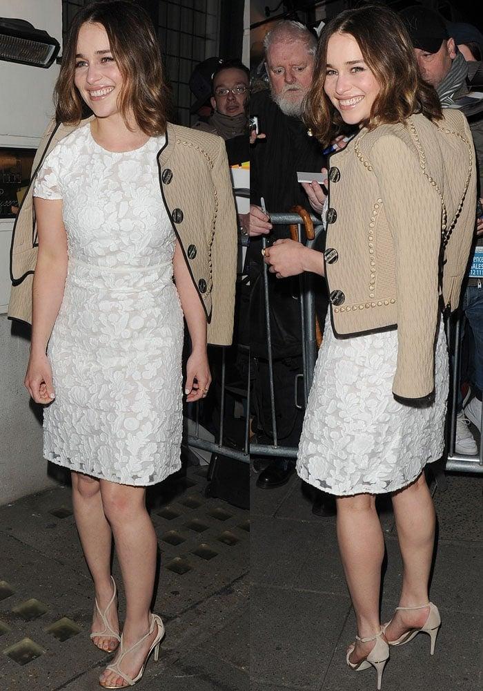 Emilia Clarke PreBAFTA Mayfair Burberry 2