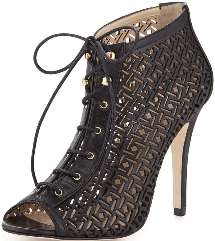 Etienne Aigner Perforated Bootie