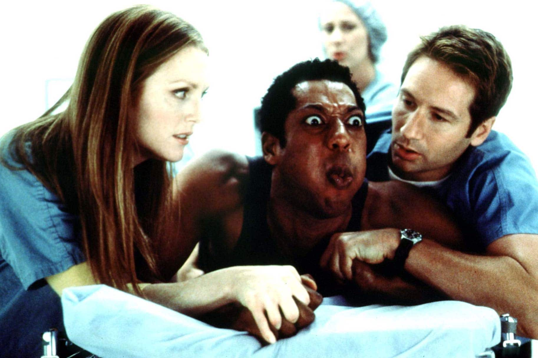 David Duchovny, Julianne Moore, and Orlando Jones filmed Evolution in California and Page, Arizona