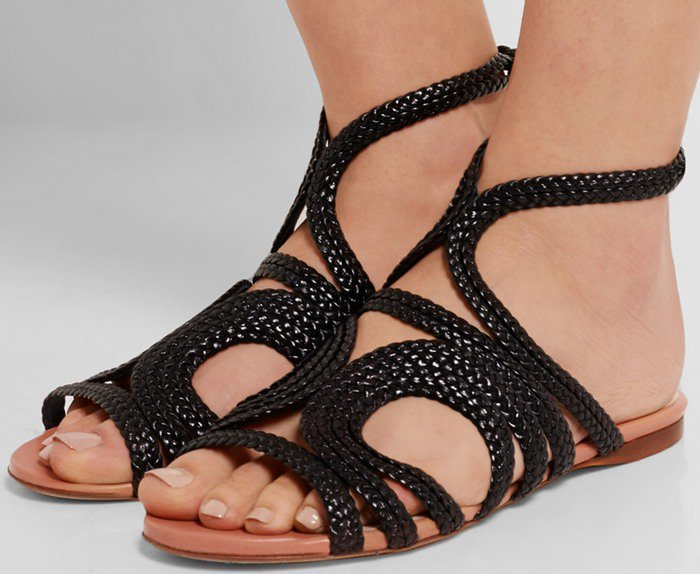 Francesco Russo Braided leather sandal