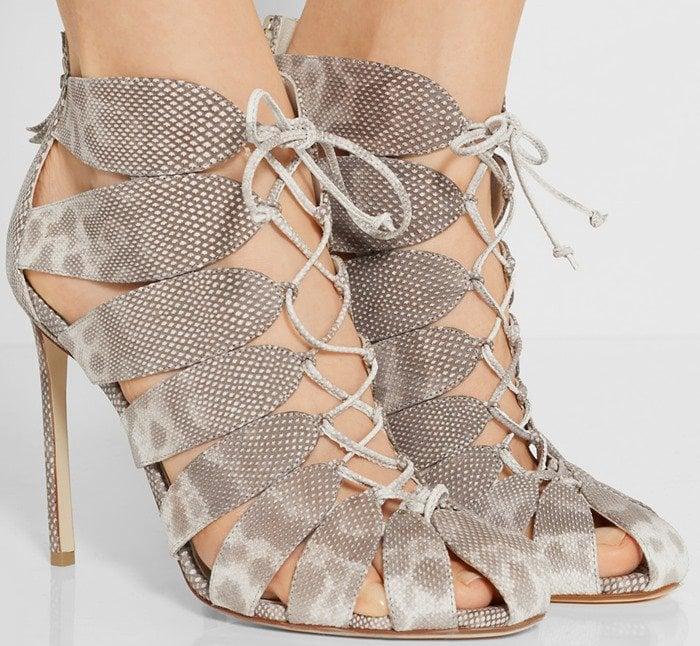 Francesco Russo Lace-up karung sandal